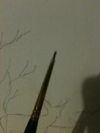 Cepillo Spotter. Ello's a small brush for small detail.