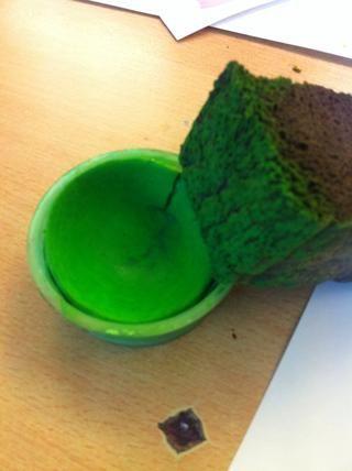 Siguiente color, el verde! Haga lo mismo, lenguado som verde en la ENS de la amarilla por lo que se mezcla