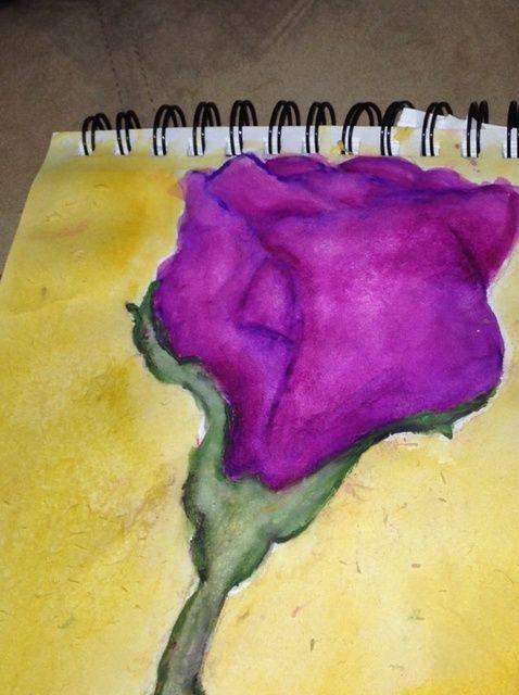 Cómo pintar una rosa con Acuarelas