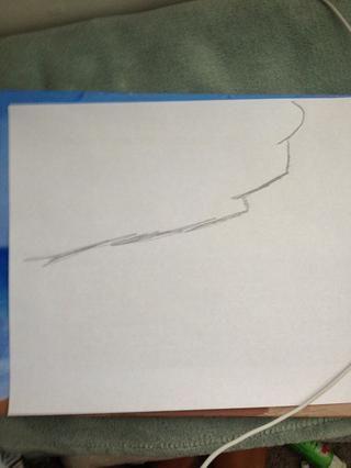 Dibujar una forma debajo de su pintor's tape like so to make you ocean