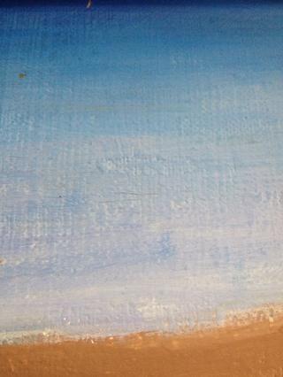 Luego pintar su estilo ombré océano de la oscuridad a la luz el uso de ultra profunda blanca azul y la nieve
