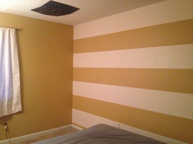 Cómo pintar una pared rayada