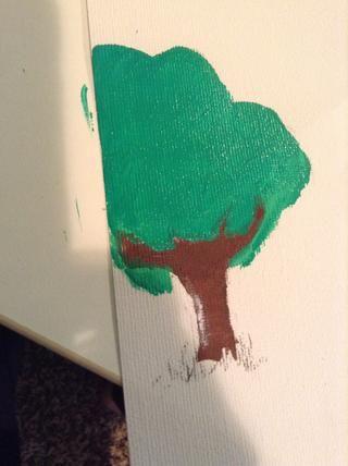 una vez que te dan el color u quiere, hacer la base de las hojas. mi color es mucho más vibrante en la vida real que en la imagen !!