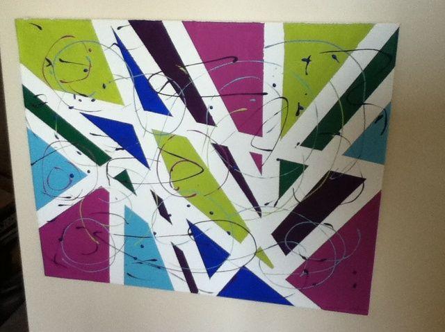 Cómo pintar una pieza vibrante del arte abstracto