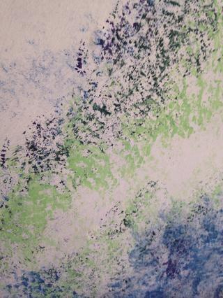 Utilice otro esponja para aplicar colores más claros, no es necesaria la mezcla a menos prefured