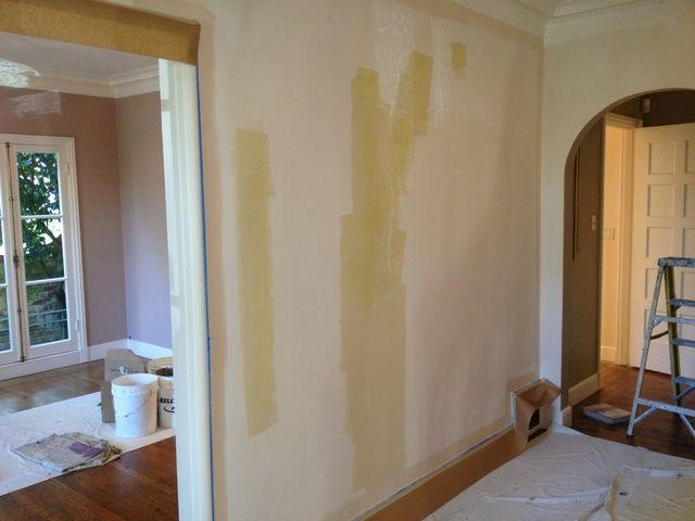 Una vez que el perímetro de la pared se cepilló el que're ready to roll our wall.