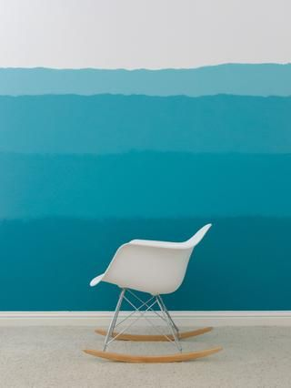Mi hijo no podía't be happier with his ombre walls - and neither could I! It's so nice to be able to give him the ocean theme that he wants without having a theme room.