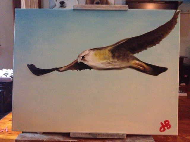 Cómo pintar Ártico halcón peregrino con los dedos.