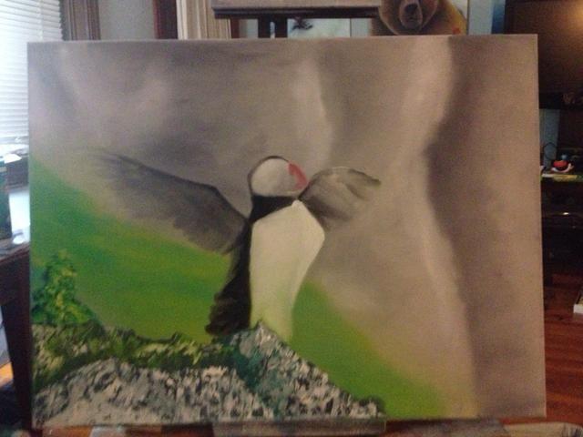 El trabajo en la definición de las alas. Los dedos funcionan increíblemente bien en las plumas.
