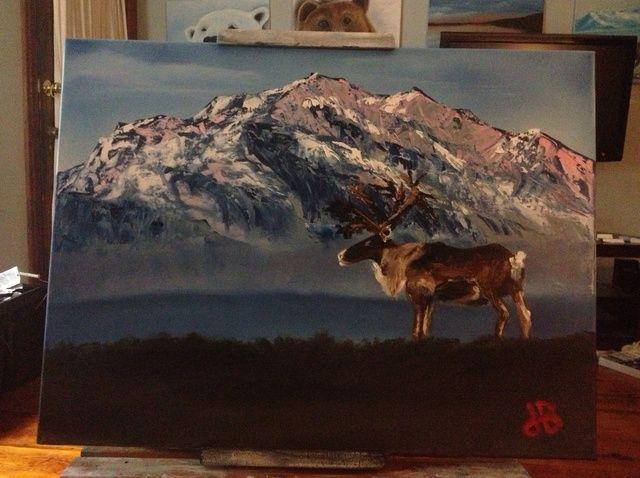 Cómo pintar con los dedos Caribou