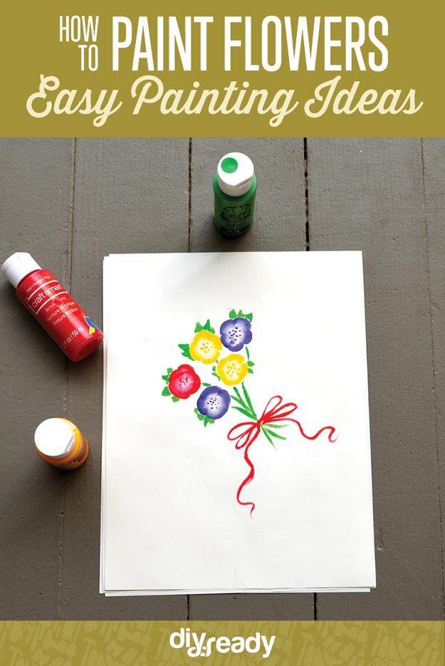 Fotografía - Cómo pintar flores | Ideas fáciles de Pintura