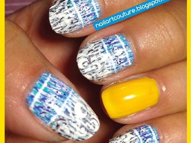 Cómo pintar con flecos Nail Art Imagen