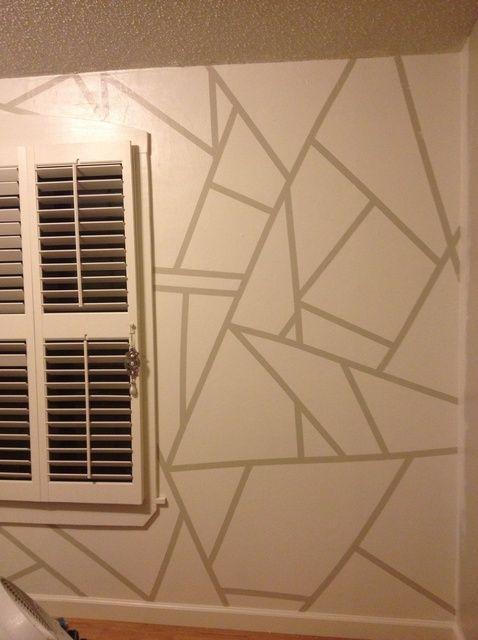 Fotografía - Cómo pintar patrones geométricos en una pared