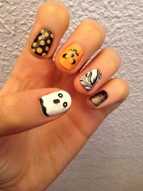 Fotografía - Cómo pintar las uñas de Halloween