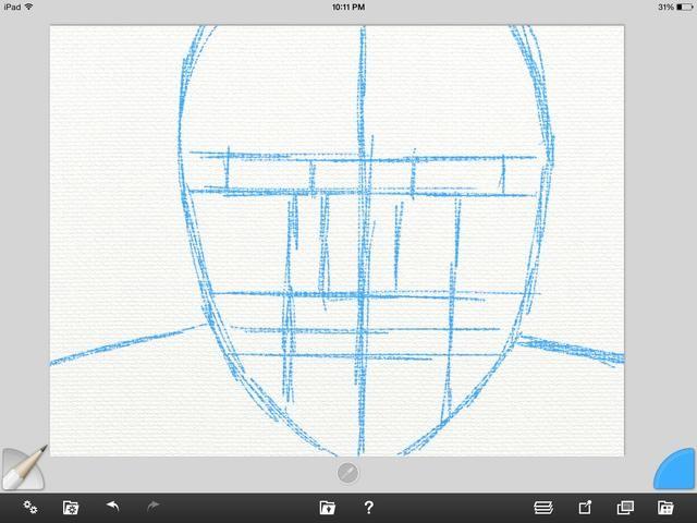 Primero creo un nuevo lienzo para trabajar. Luego me ligeramente esbozar la figura con la herramienta lápiz. Esto va en la primera capa.