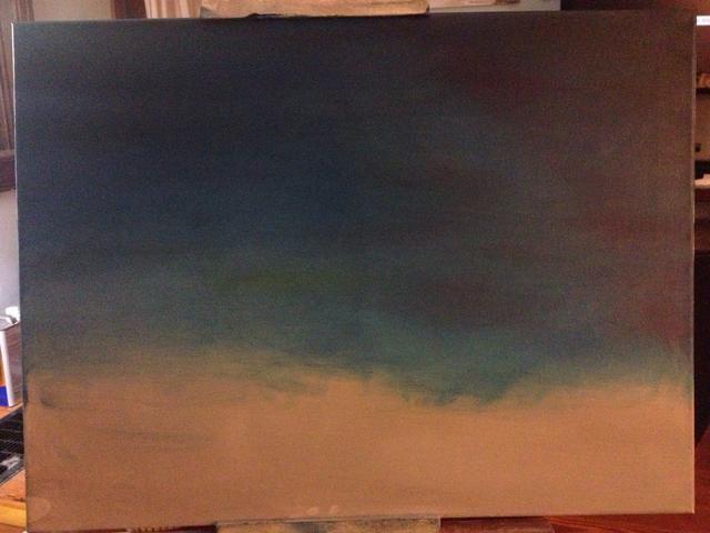 Tome su palma y la ligera mezclar todos los colores en el lienzo y tomar las huellas dactilares.
