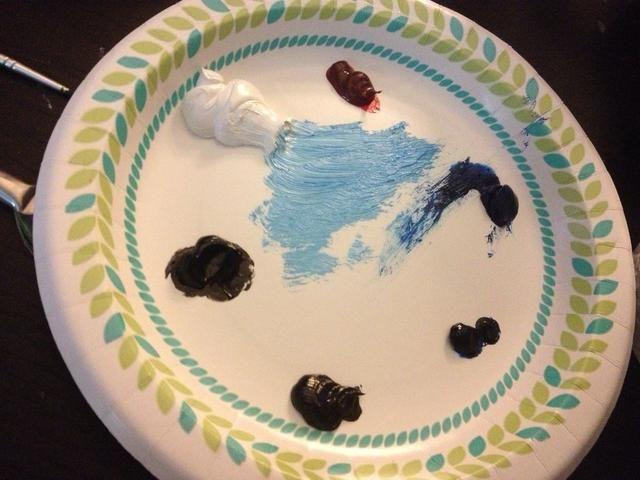 Tómese Phalo Azul y blanco en su cepillo de chip grande.