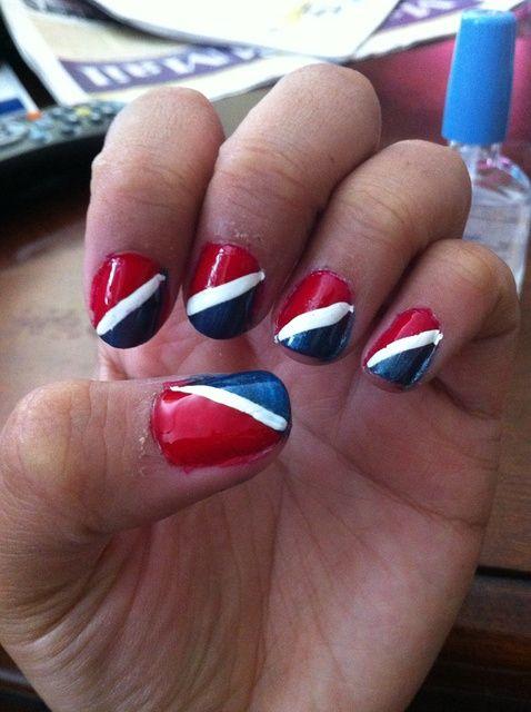 Cómo pintar las uñas Pepsi Inspirado (rojo, blanco, y azul)