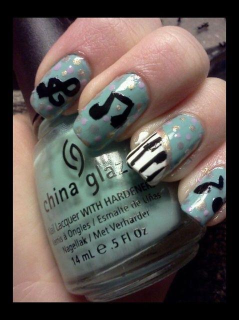Fotografía - Cómo pintar Piano Nail Art