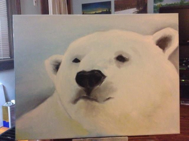 La mayoría de los osos polares tienen un poco de amarillo en su piel, así que hice lo mismo aquí.
