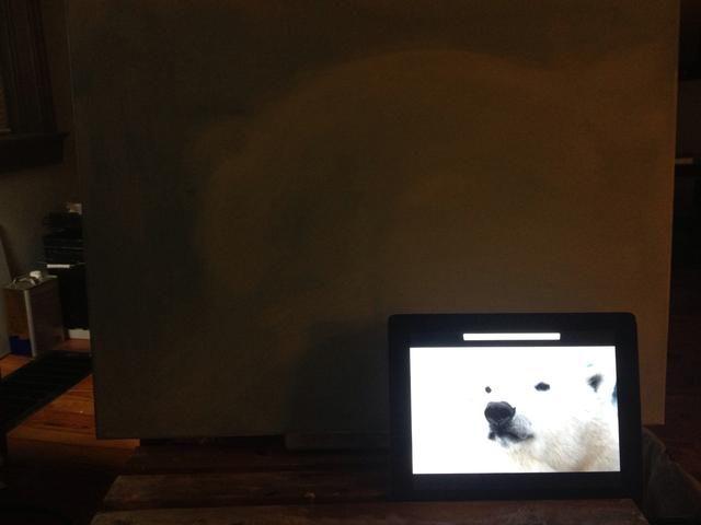 El uso de la imagen como referencia, tome la uña y el boceto en la forma básica de su oso.