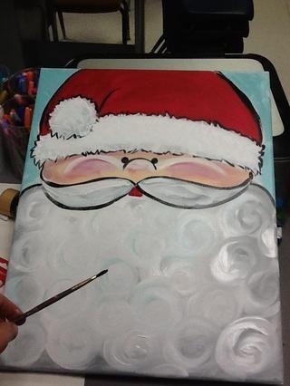Utilice el mismo pincel y pintura negro para delinear el sombrero, lado de la cara, la nariz, el bigote y el labio.