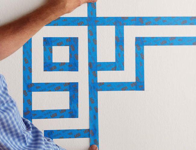 Cómo pintar rayas en una pared