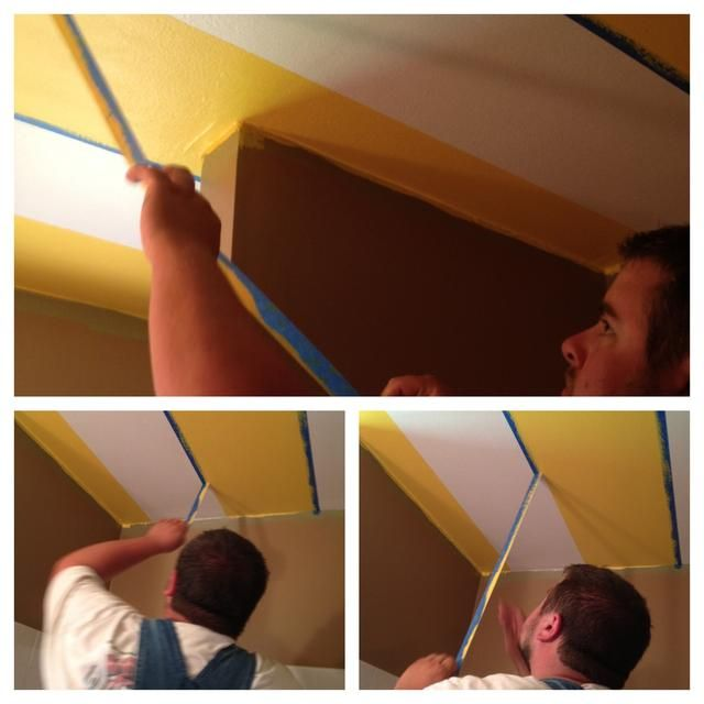 cuando se tira hacia abajo la cinta tenga cuidado, usted no't want the paint to peel with the tape. double the tape back over and away from the stripe - this helps to give a clean line.