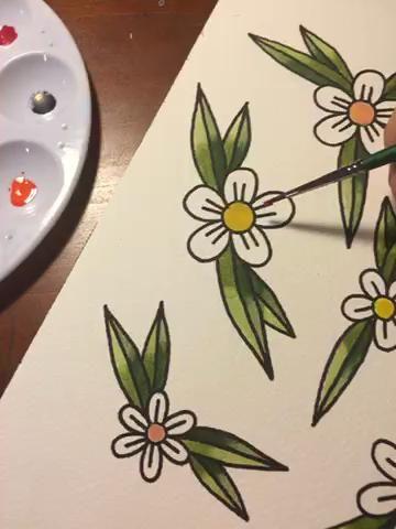 Siga usando el paquete y enjuague técnica para llenar de pétalos de flores.