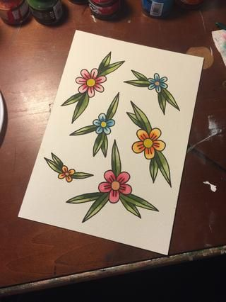 Lindo pequeño flash flor. ????????????