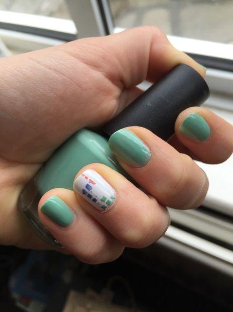 Cómo pintar las uñas de Tetris