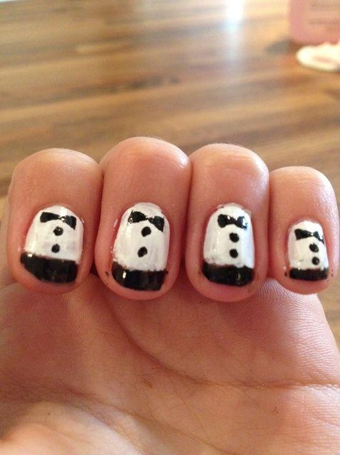 Fotografía - Cómo pintar Tuxedo Nails!