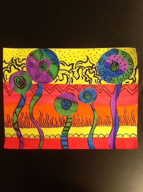 Cómo pintar cálidos y fríos Flores. Opción 1