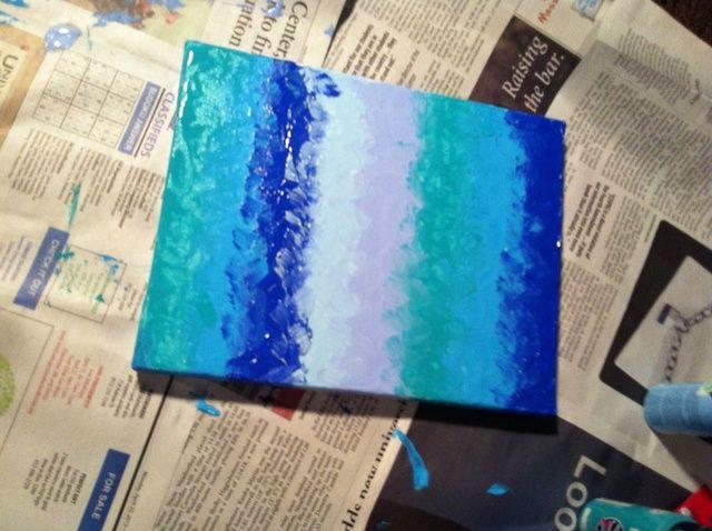 Cómo pintar con una cuchara