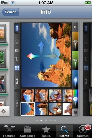 IPhoto es una aplicación de edición de fotos para iOS. Es bueno para la edición básica de fotos. (Ahora uso la aplicación Snapseed)