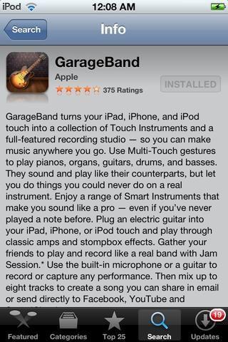 Descarga GARAGEBAND por Apple en la App Store. Precio: $ 5