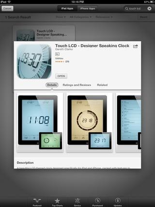 LCD TOUCH: reloj Mesilla de noche