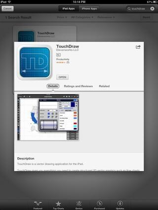 TOUCHDRAW: Dibujo vectorial