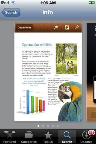 PÁGINAS es un magnífico procesador de texto para iOS. Esto es de Apple's ''Microsoft Word.''