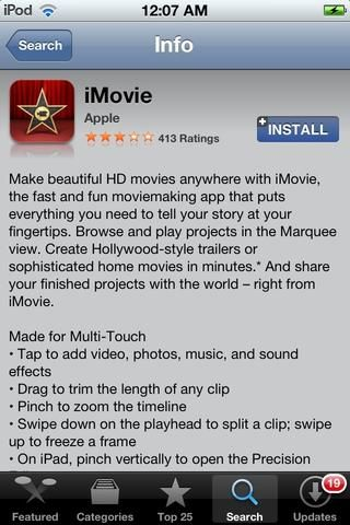 Descarga IMOVIE por Apple en la App Store. Precio: $ 5