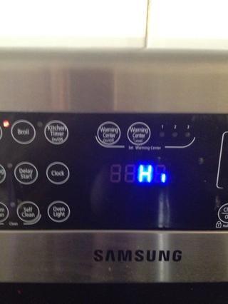 Apague el horno de alta en asar