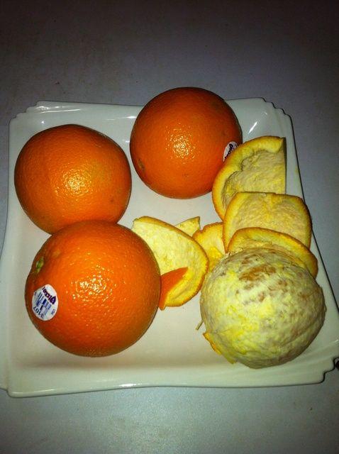 Cómo pelar una naranja con una Receta Cuchillo