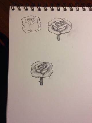 Este es el que yo dibujé y los otros intentos