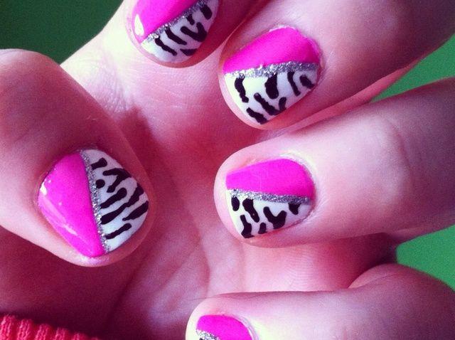 Cómo Rosa + Zebra Nails