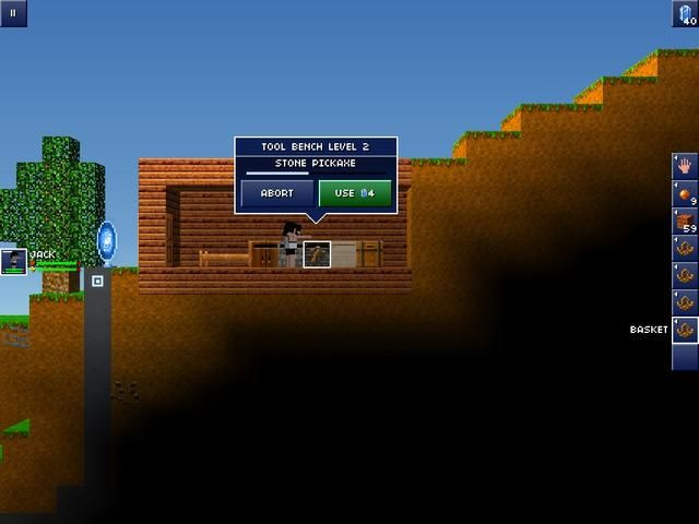 Comienzas el juego haciendo una pequeña casa y la excavación de un poco de suciedad y puñetazos algunos árboles