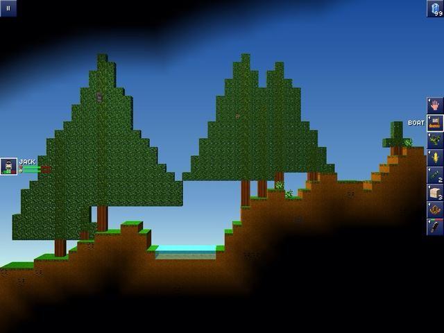 este es el bosque usted puede conseguir la madera aquí hay perros de algún tipo no te atacará