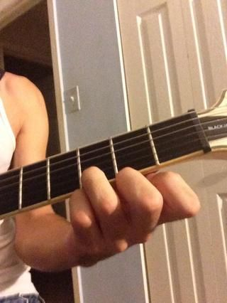 Después de usted're done tuning the guitar to E Standard (E A D G B E) the first, and most popular guitar chord you will play is the G chord (as pictured). You will strum the bottom 4 strings with your…