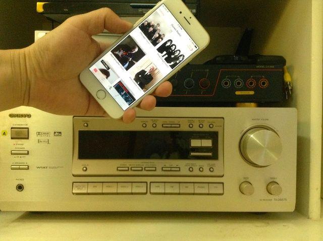 Fotografía - Cómo jugar radio en línea de iPhone 6 Thru Home Stereo