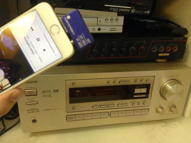Una vez que la configuración se corresponden, se oye muy claro de streaming de música desde el iPhone 6 a través del equipo de música