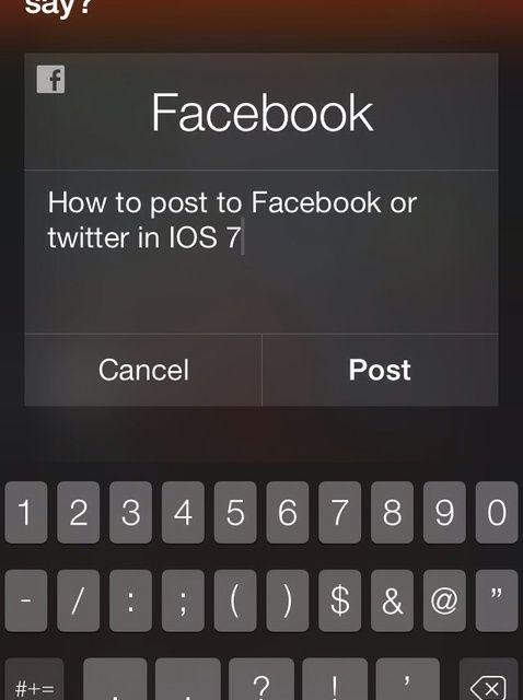 Cómo publicar en Facebook o Twitter en iOS 7